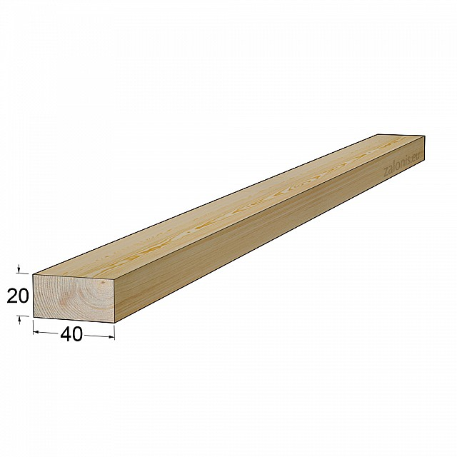 TIMBER SQUARE BEAM 20x40 mm / PINE